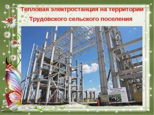 Тепловая электростанция на территории Трудовского сельского поселения