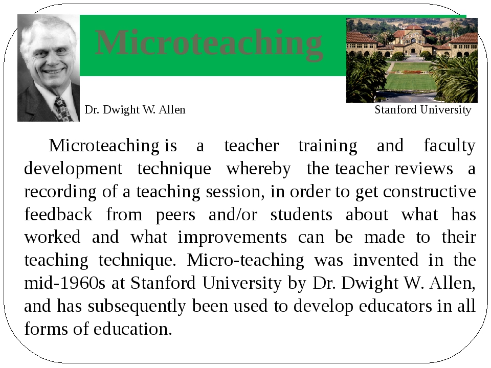 Microteaching is a teacher training and faculty development technique whereby...