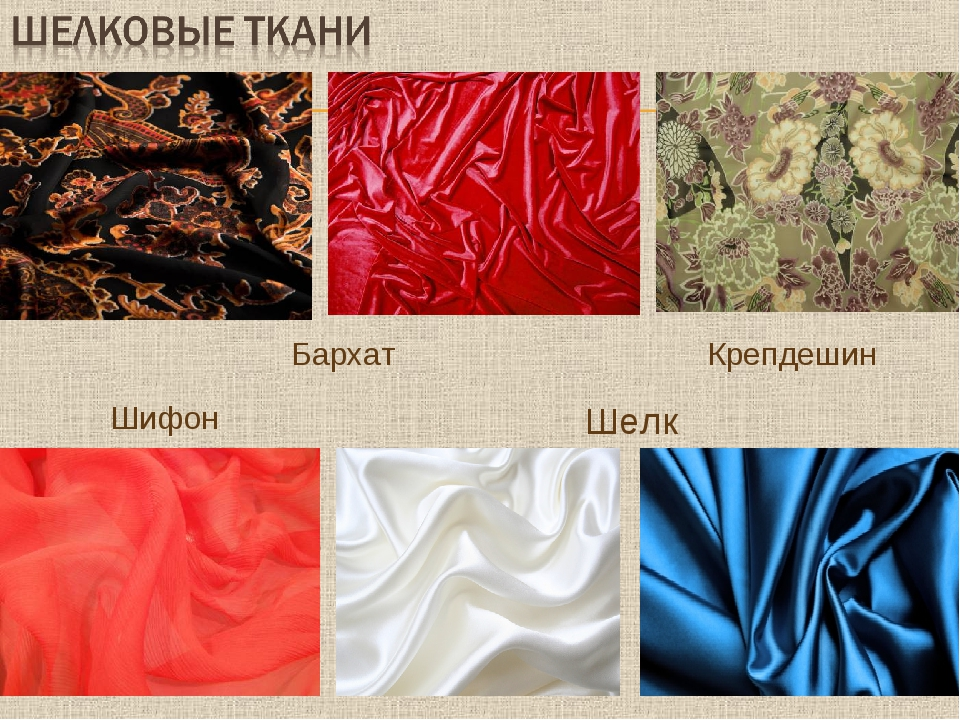 Бархат Крепдешин Шифон Шелк