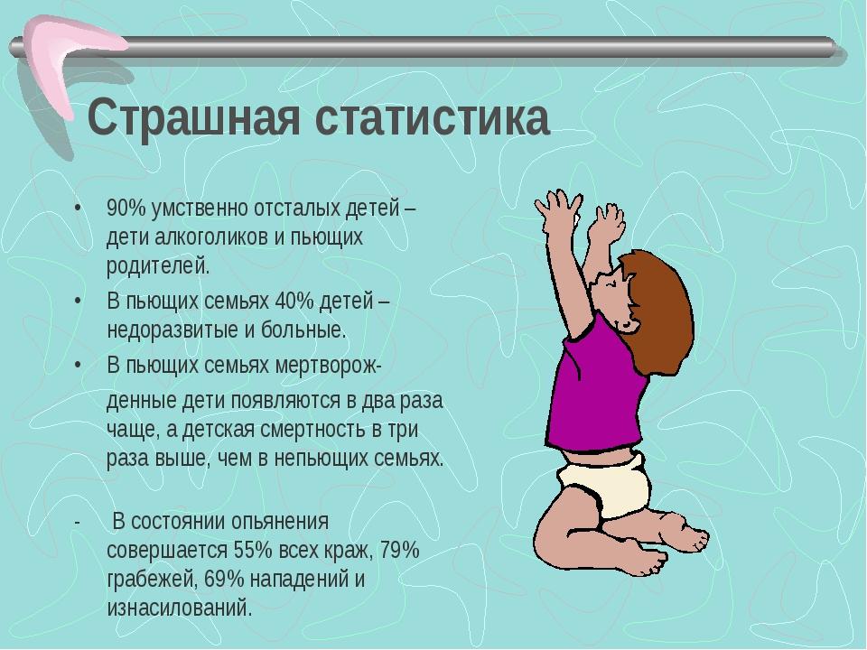 Страшная статистика 90% умственно отсталых детей – дети алкоголиков и пьющих...