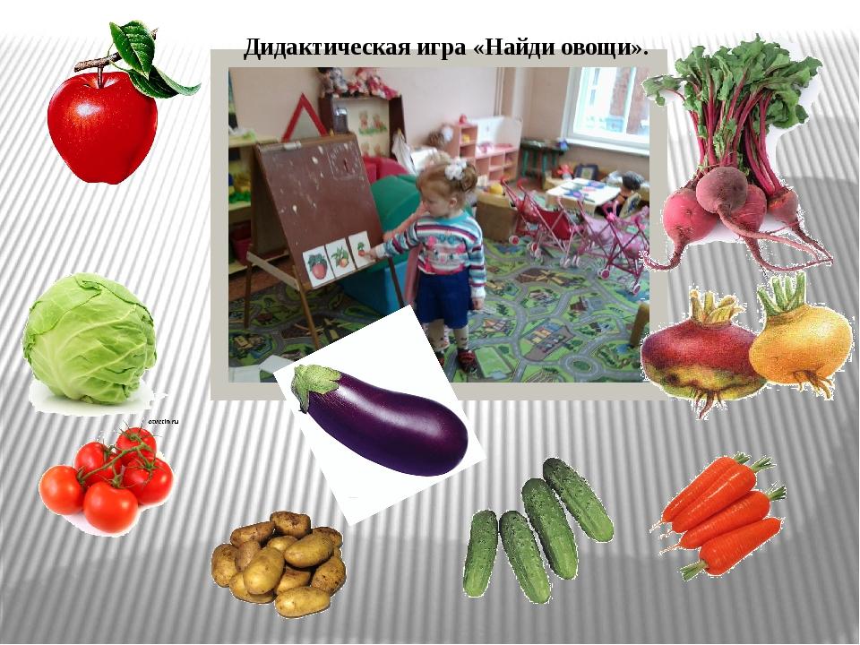 Дидактическая игра «Найди овощи».