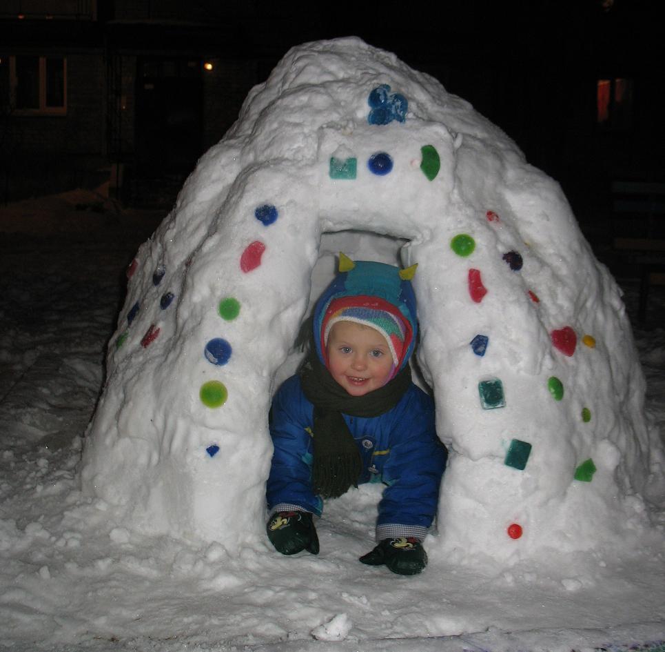 Как построить иглу из снега