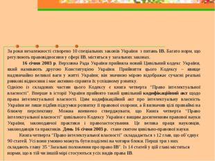 За роки незалежності створено 10 спеціальних законів України з питань ІВ. Баг