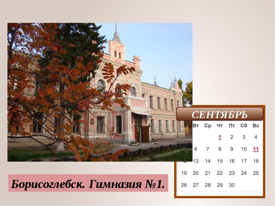 Борисоглебск. Гимназия №1. СЕНТЯБРЬ