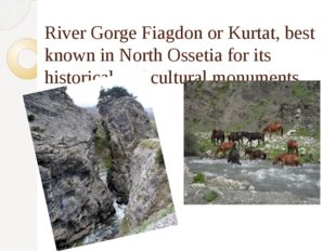River Gorge Fiagdon or Kurtat, best known in North Ossetia for its historical