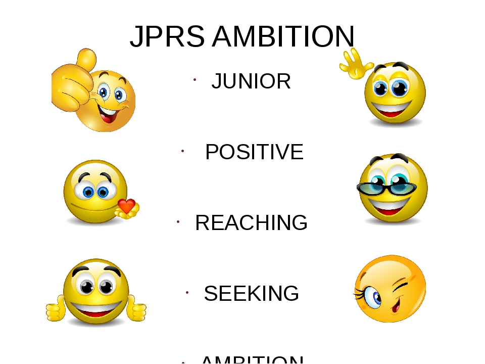 JPRS AMBITION JUNIOR POSITIVE REACHING SEEKING AMBITION