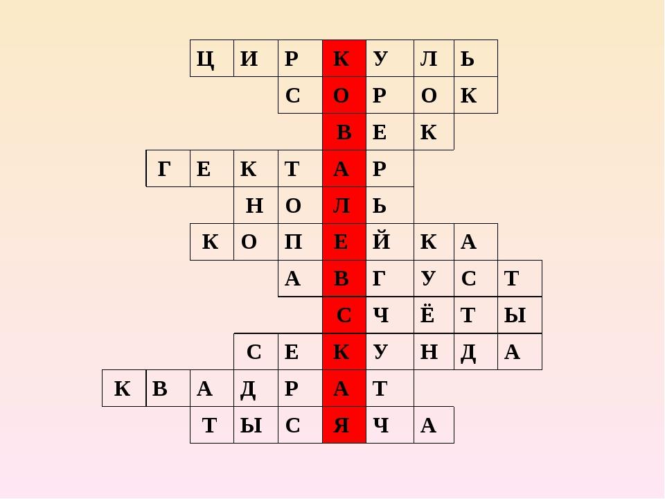 ЦИРКУЛЬ СОРОК ВЕК ГЕКТАР...