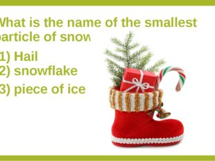 What is the name of the smallest particle of snow? 1) Hail 2) snowflake 3) pi