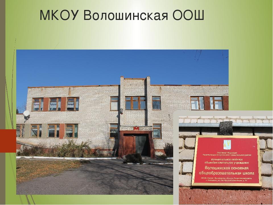 МКОУ Волошинская ООШ