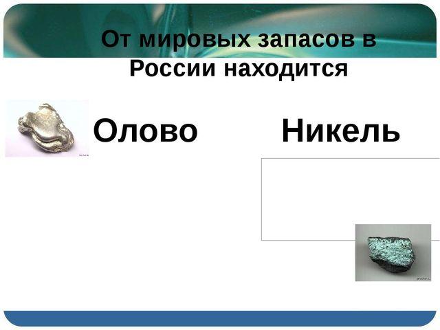 От мировых запасов в России находится