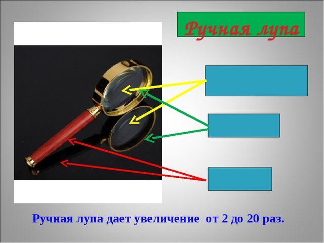 увеличительное стекло (линза) ручка Ручная лупа дает увеличение от 2 до 20 р...
