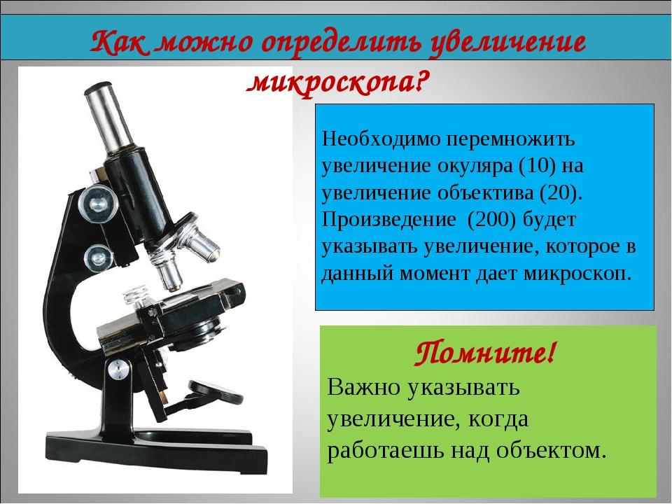 Необходимо перемножить увеличение окуляра (10) на увеличение объектива (20)....