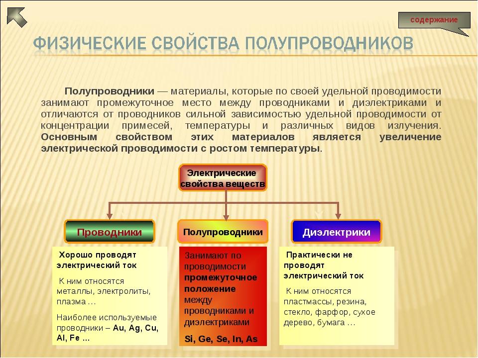 Полупроводники — материалы, которые по своей удельной проводимости занимают п...
