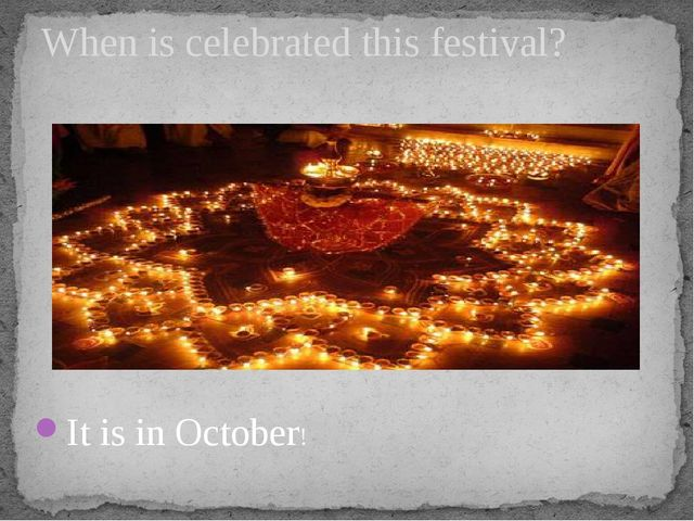 It is in October! When is celebrated this festival?