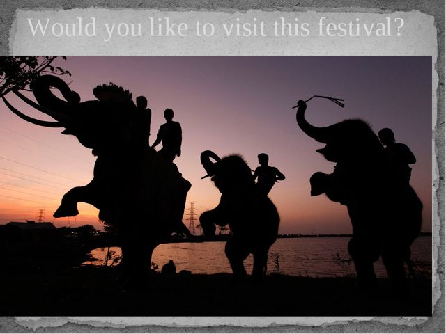 Would you like to visit this festival?