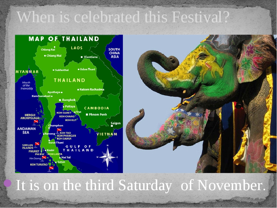 It is on the third Saturday of November. When is celebrated this Festival?