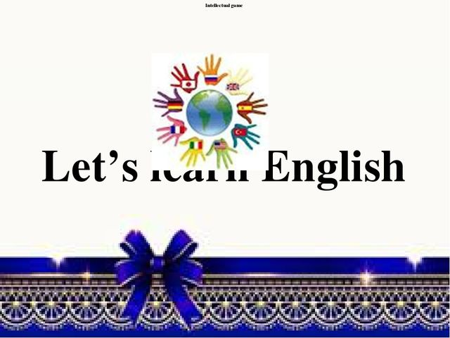 Intellectual game Let's learn English