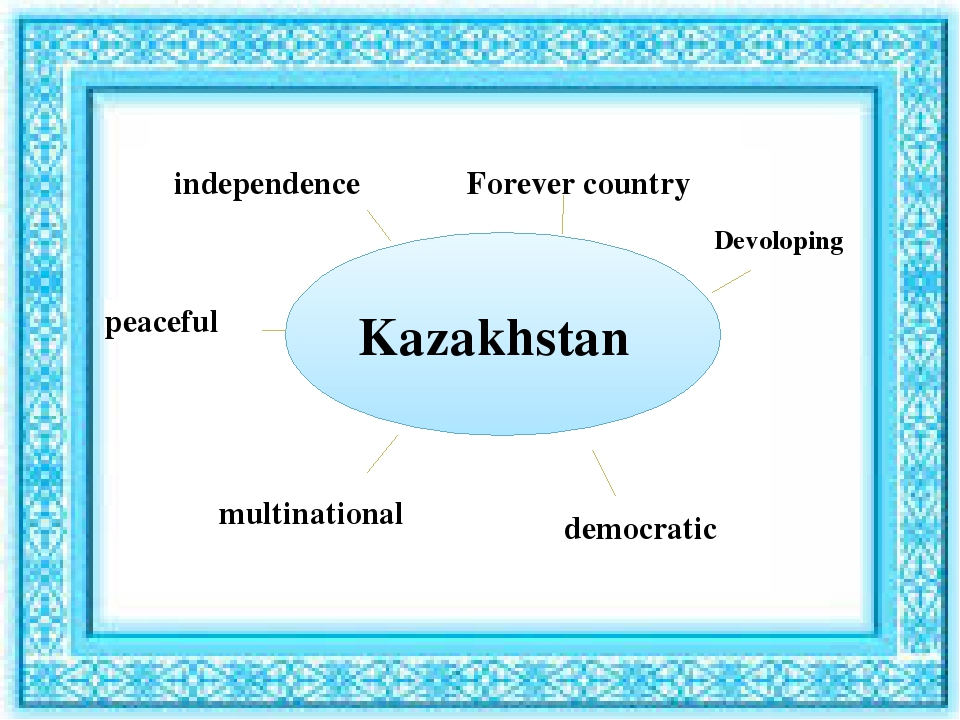Kazakhstan independence Forever country multinational democratic peaceful Dev...