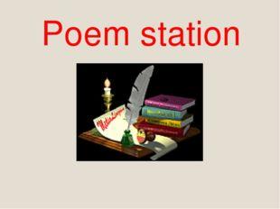 Poem station