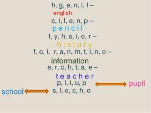 h, g, e, n, i, l – c, i, l, e, n, p – t, y, h, s, i, o, r – f, o, i, r, a, n,