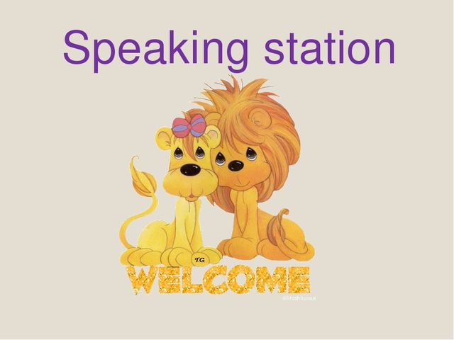 Speaking station