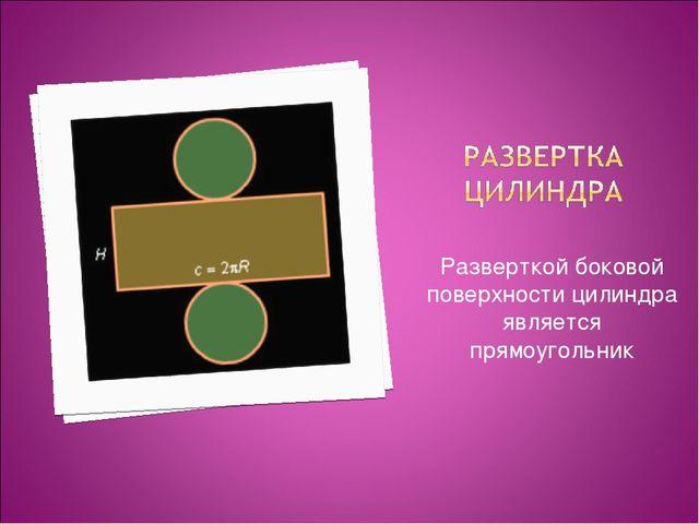 Разверткой боковой поверхности цилиндра является прямоугольник