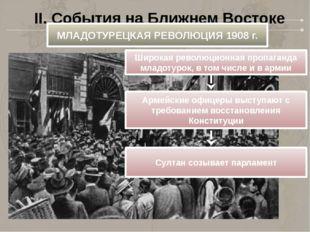 II. События на Ближнем Востоке МЛАДОТУРЕЦКАЯ РЕВОЛЮЦИЯ 1908 г. Широкая револю