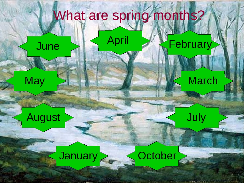 What are spring months?