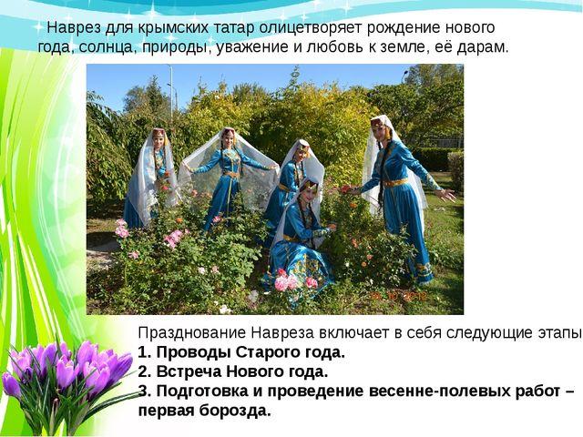 Празднование Навреза включает в себя следующие этапы: 1. Проводы Старого года...