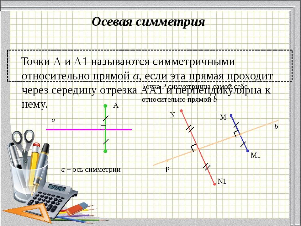 Решение задач Построить треугольник, симметричный данному. 2. Построить прямо...