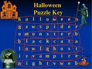 Halloween Puzzle Key halloween gzwspider omonsterb b