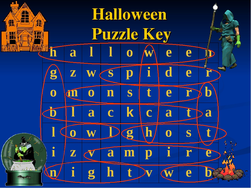 Halloween Puzzle Key halloween gzwspider omonsterb b...