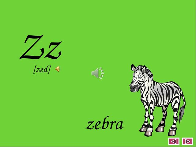 Zz zebra [zed]