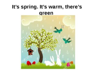 It's spring. It's warm, there's green grass on the ground