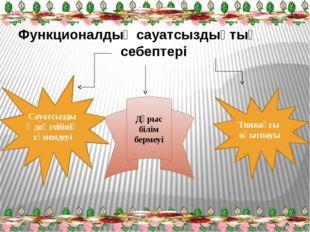 Функционалдық сауатсыздықтың себептері Сауатсыздық деңгейінің төмендеуі Дұрыс