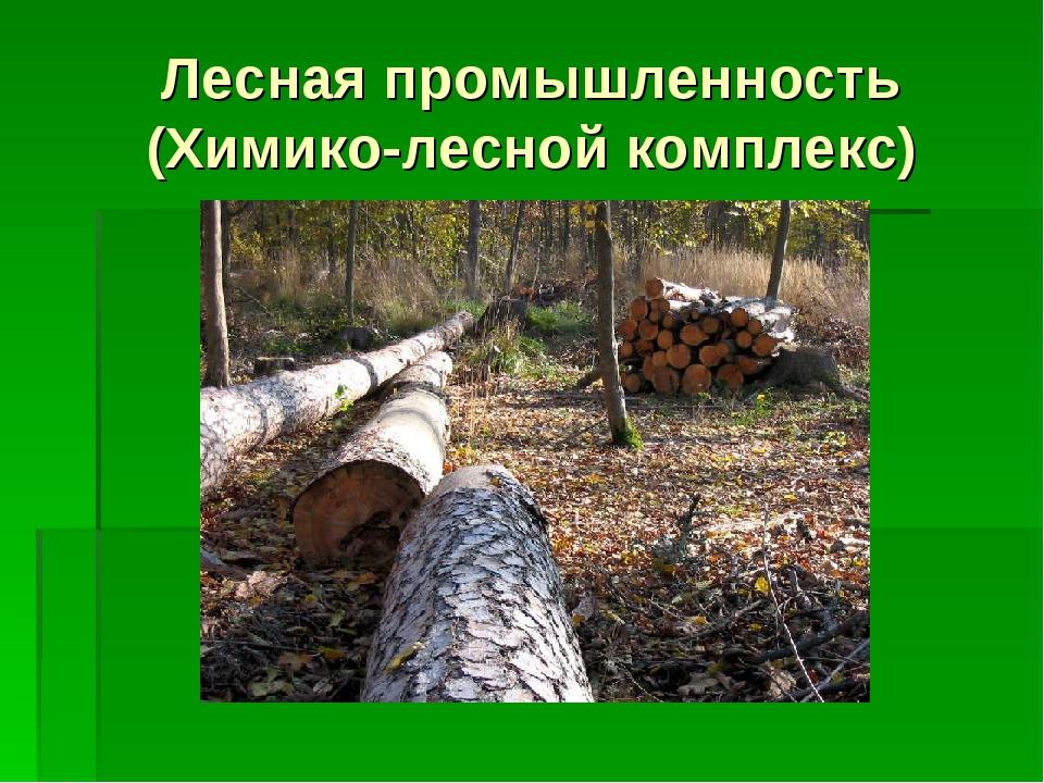 Лесная промышленность (Химико-лесной комплекс)
