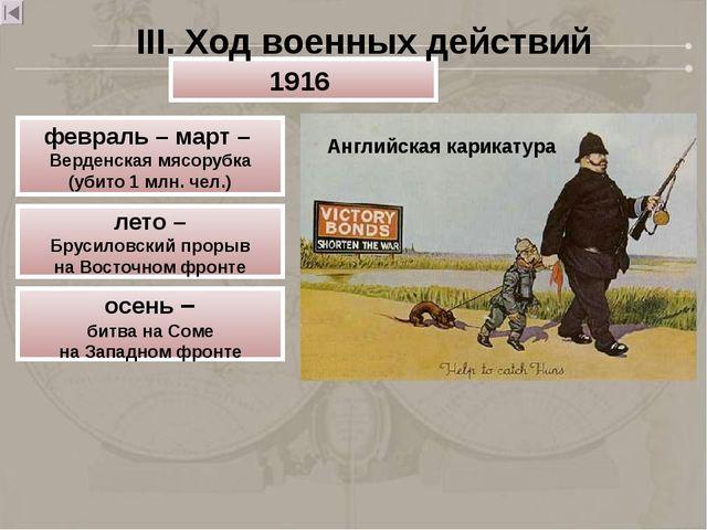 Английская карикатура 1916 февраль – март – Верденская мясорубка (убито 1 млн...