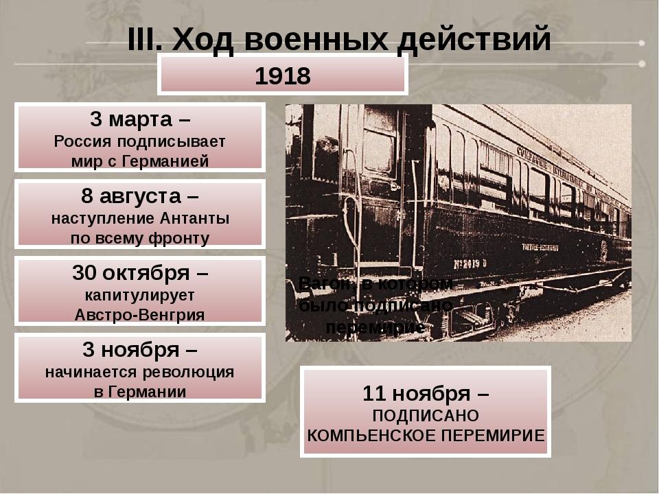 Вагон, в котором было подписано перемирие 1918 3 марта – Россия подписывает м...
