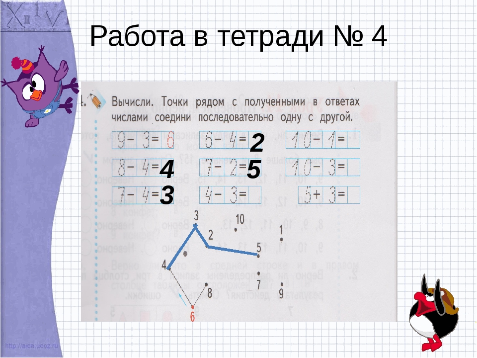 Работа в тетради № 4 4 3 2 5