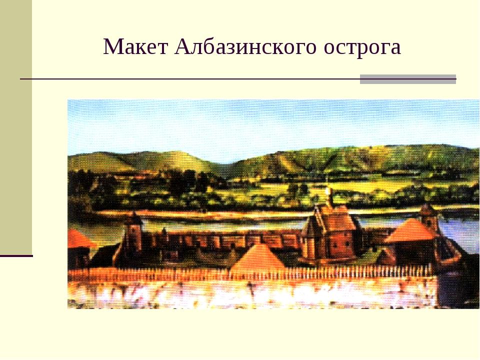 Макет Албазинского острога