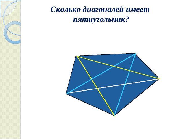 Сколько диагоналей имеет пятиугольник?