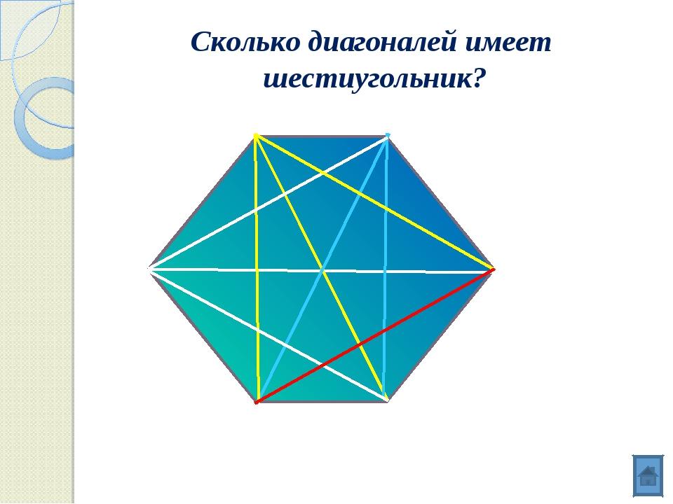 Сколько диагоналей имеет шестиугольник?