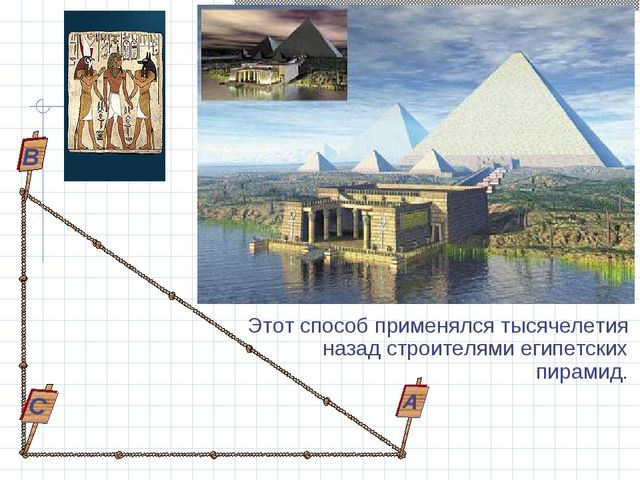 Этот способ применялся тысячелетия назад строителями египетских пирамид. С В