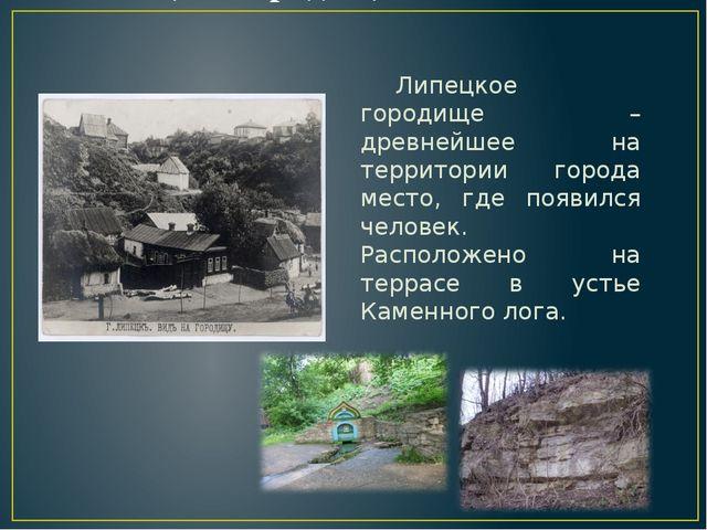 Липецкое городище Липецкое городище – древнейшее на территории города место,...