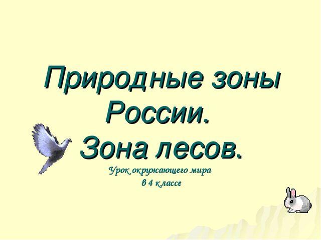 Природные зоны России. Зона лесов. Урок окружающего мира в 4 классе