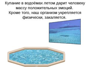 Купание в водоёмах летом дарит человеку массу положительных эмоций. Кроме тог