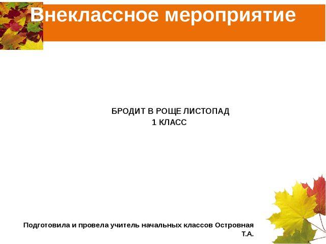Внеклассное мероприятие МБОУ СОШ №2 Г.Петровска Саратовской области БРОДИТ В...