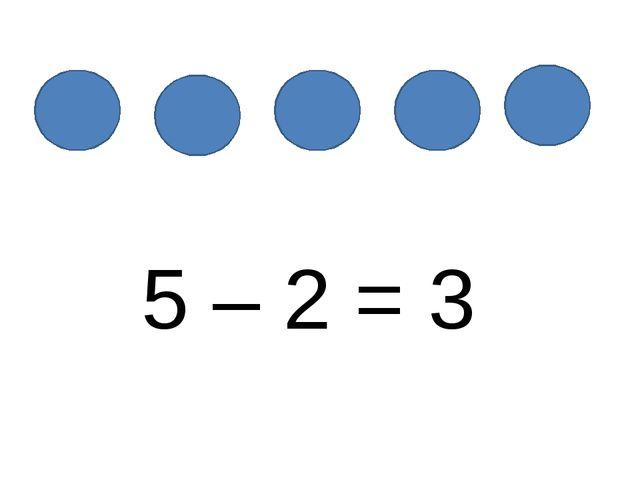 5 – 2 = 3