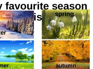 My favourite season is winter spring summer autumn