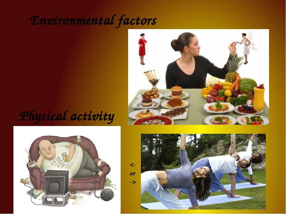 Environmental factors Physical activity